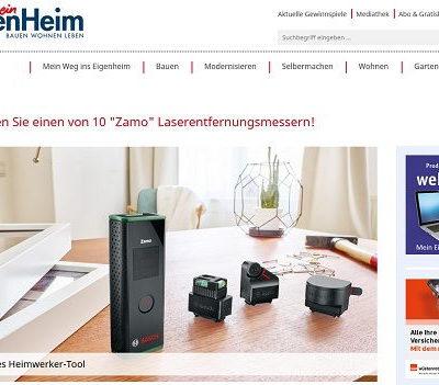 Mein EigenHeim Gewinnspiel Bosch Zamo Laserentfernungsmessgeräte