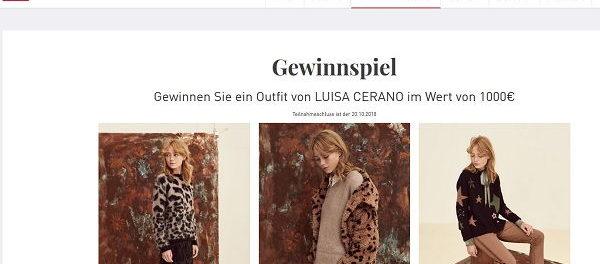 Mode Zinser Gewinnspiel 1.000 Euro Luisa Cerano Outfit