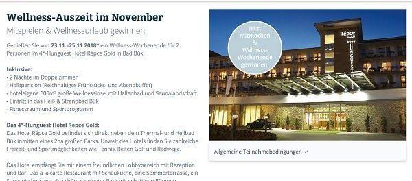 Mondial Reisen Gewinnspiel Wellness-Wochenende Bad Bük