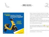 Motorroller Gewinnspiel Rewe und Chiquita Bananen