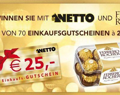 Netto und Ferrero Rocher Gewinnspiel 70 Einkaufsgutscheine