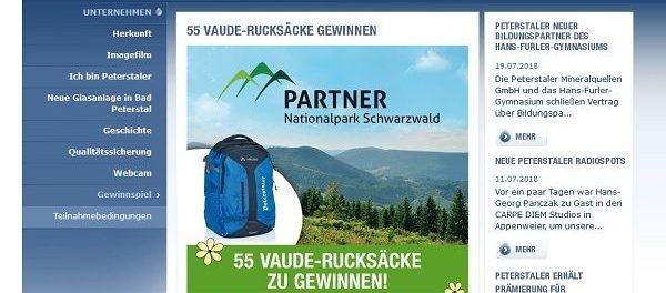 Peterstaler Gewinnspiel 55 Vaude Rucksäcke