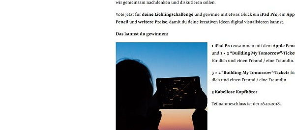 Qii Magazin Gewinnspiel Appel iPad Pro mit Apple Pencil