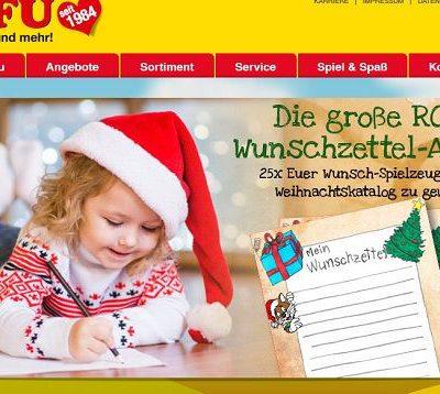 ROFU Gewinnspiel Wunschzettel-Aktion Weihnachten 2018