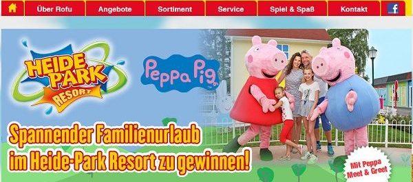 Rofu Gewinnspiel Heide Park Familienurlaub Peppa Pig