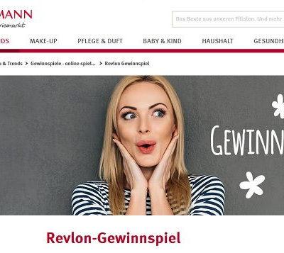 Rossmann Gewinnspiel 200 Revlon Lippstick Produktpakete