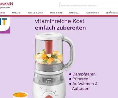Rossmann Gewinnspiel Philips Avent Babynahrungszubereiter