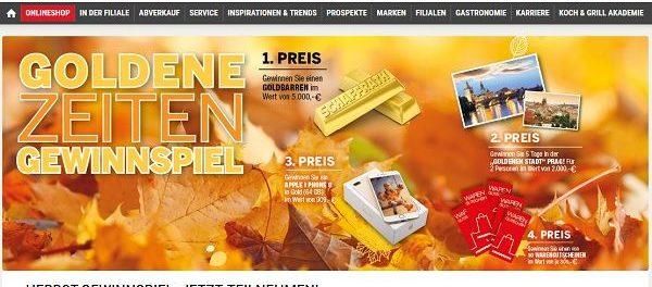 Schaffrath Goldbarren Gewinnspiel 5.000 Euro