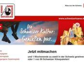 Schweizer Käse Gewinnspiel Wochenendreise und Käsepakete
