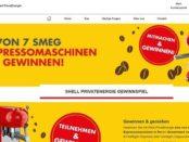 Shell Gewinnspiel 7 SMEG Retro Espressomaschinen