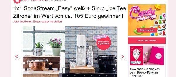 Soda Stream Gewinnspiel Idee für Mich Magazin