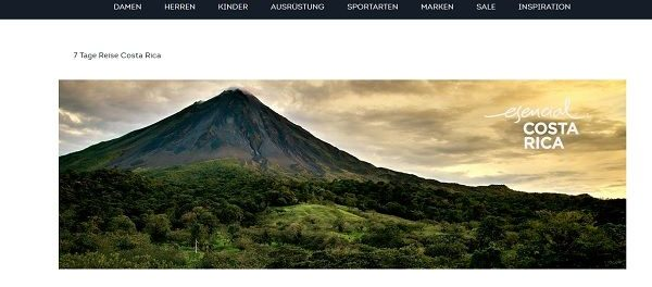 SportScheck Gewinnspiel Costa Rica Reise