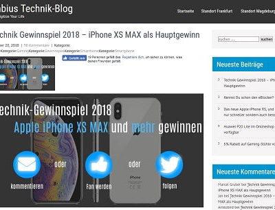 Tabius Technik Blog Advents-Gewinnspiel Apple iPhone XS Max uvm.