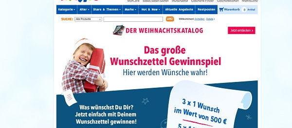 ToysRus Weihnachts-Gewinnspiel Wunschzettel Aktion 2018