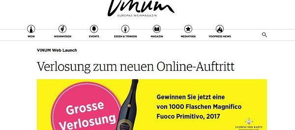 Vimum Magazin Gewinnspiel 1.000 Flaschen Wein
