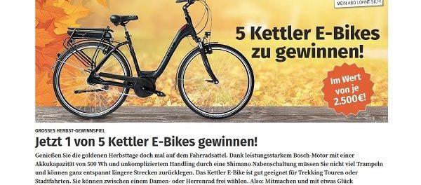 WAZ Revier E-Bike Gewinnspiel 5 Kettler Bikes
