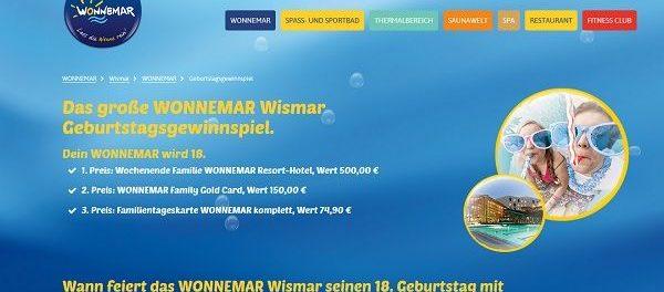 Wonnemar Gewinnspiel Familienwochenende Wonnemar Resort