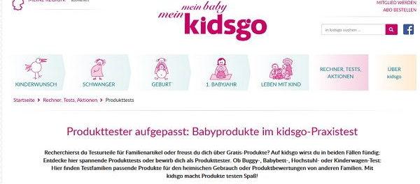 kidsgo Magazin Gewinnspiele und Produkttester