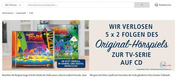 real Trolls Gewinnspiel Hörspiele CDs