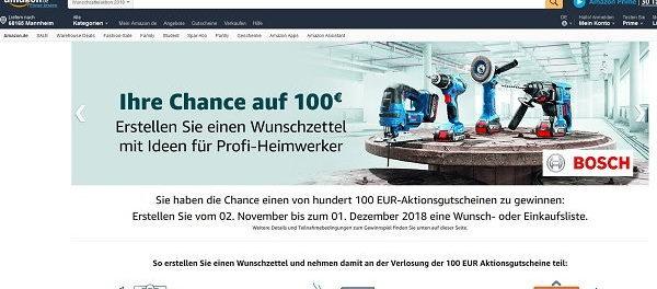 Amazon Gewinnspiel Wunschzettel Aktion 2018