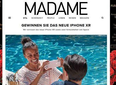 Apple iPHone XR Gewinnspiel Madame Magazin