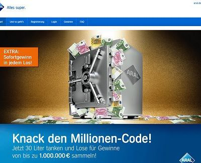 Aral Gewinnspiel 1 Million Euro Hauptgewinn