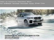 Auto-Gewinnspiel BMW X5 sechs Monate fahren