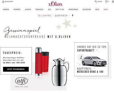 Auto-Gewinnspiel S.Oliver Mercedes A-Klasse gewinnen