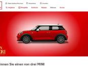 Auto-Gewinnspiele Kaufland Mon Cheri 3 Mini gewinnen