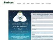 Barbour Weihnachts-Gewinnspiel 5 Snowman Jacken