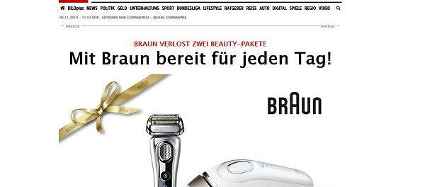 Bild und Braun Gewinnspiel Haarentfernungs-Set