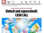 Bild.de Cashcall Gewinnspiel 260.000 Euro Bargeldgewinne