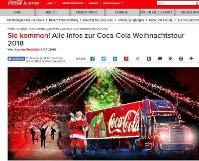 Coca Cola Weihnachtstruck Tour 2018 Termine
