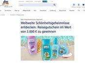 DM Balea Gewinnspiel 3.000 Euro Reisegutschein und Produkte