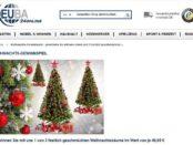 Deuba Gewinnspiel 3 geschmückte Weihnachtsbäume
