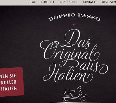 Doppio Passo Gewinnspiel Vespa Motorroller gewinnen