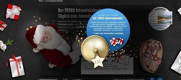 EDEKA Adventskalender Gewinnspiel 2018