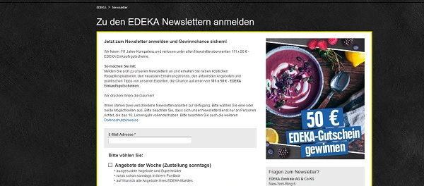 Edeka Gewinnspiel 111 Gutscheine 50 Euro gewinnen