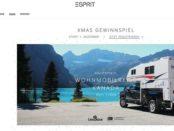 Esprit Weihnachts-Gewinnspiel 2018 Kanada Wohnmobilreise und Sachpreise