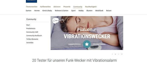 Gewinnspiel Tchibo 20 Tester Funk-Wecker mit Vibrationsalarm