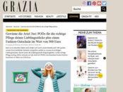 Grazia Gewinnspiel Ariel verlost 500 Euro Fashion Gutschein