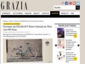 Grazia Magazin Gewinnspiel Diamant Retro Fahrrad
