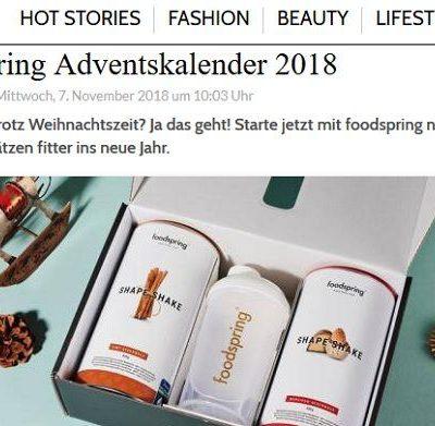 Grazia Magazin Gewinnspiel foodspring Adventskalender