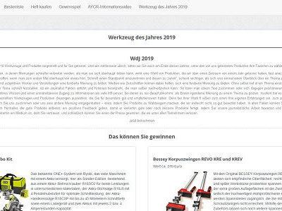 Heimwerker Praxis Gewinnspiel Werkzeug des Jahres 2019