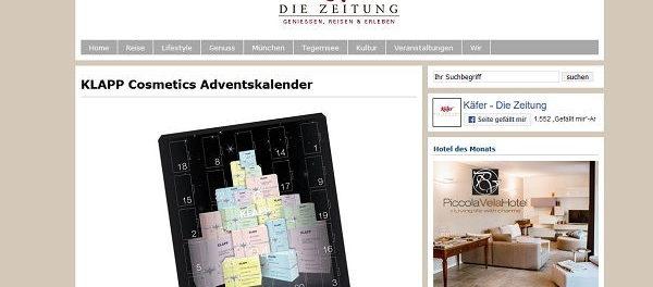 Käfer Die Zeitung Gewinnspiel Klapp Adventskalender