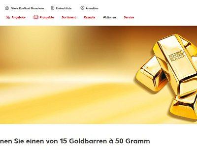 Kaufland Goldbarren Gewinnspiel 15 mal 50 Gramm