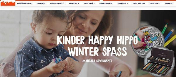Kinder Happy Hippo Gewinnspiel Kinder Malwettbewerb