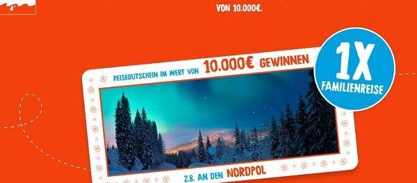 Kinder Weihnachts-Gewinnspiel 2018 10.000 Euro Reisegutschein