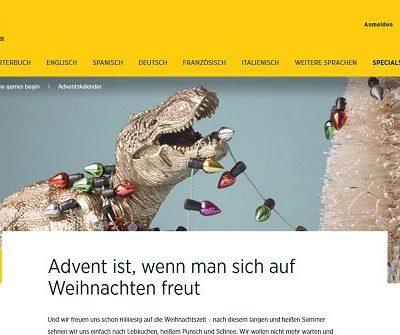 Langenscheidt Adventskalender Gewinnspiel 2018