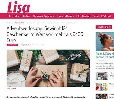 Lisa Gewinnspiel Adventsverlosung 124 Geschenke gewinnen